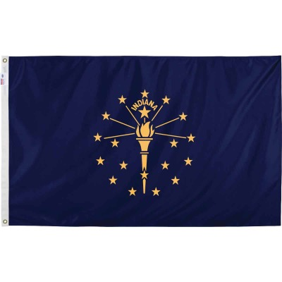 Valley Forge 3 Ft. x 5 Ft. Nylon Indiana State Flag