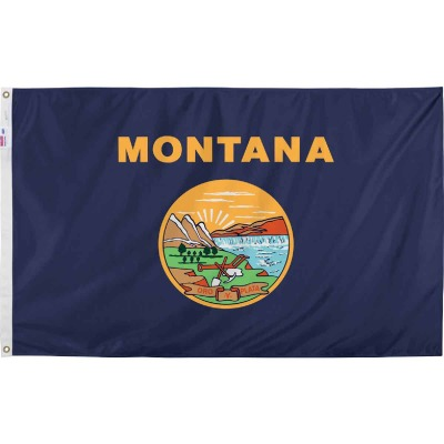 Valley Forge 3 Ft. x 5 Ft. Nylon Montana State Flag