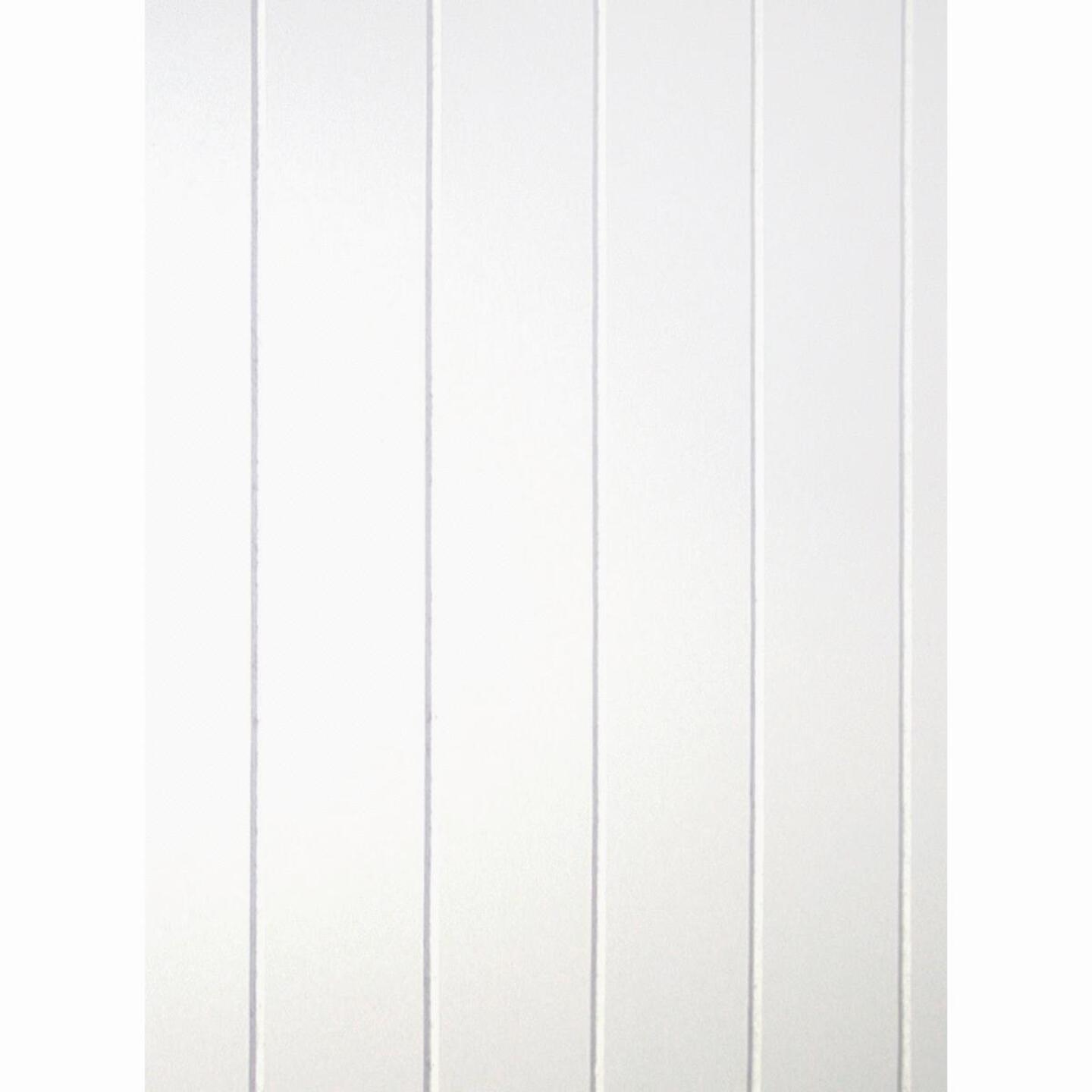 DPI 4 Ft. x 8 Ft. x 3/16 In. White Dover V-Groove Wall Paneling Image 2