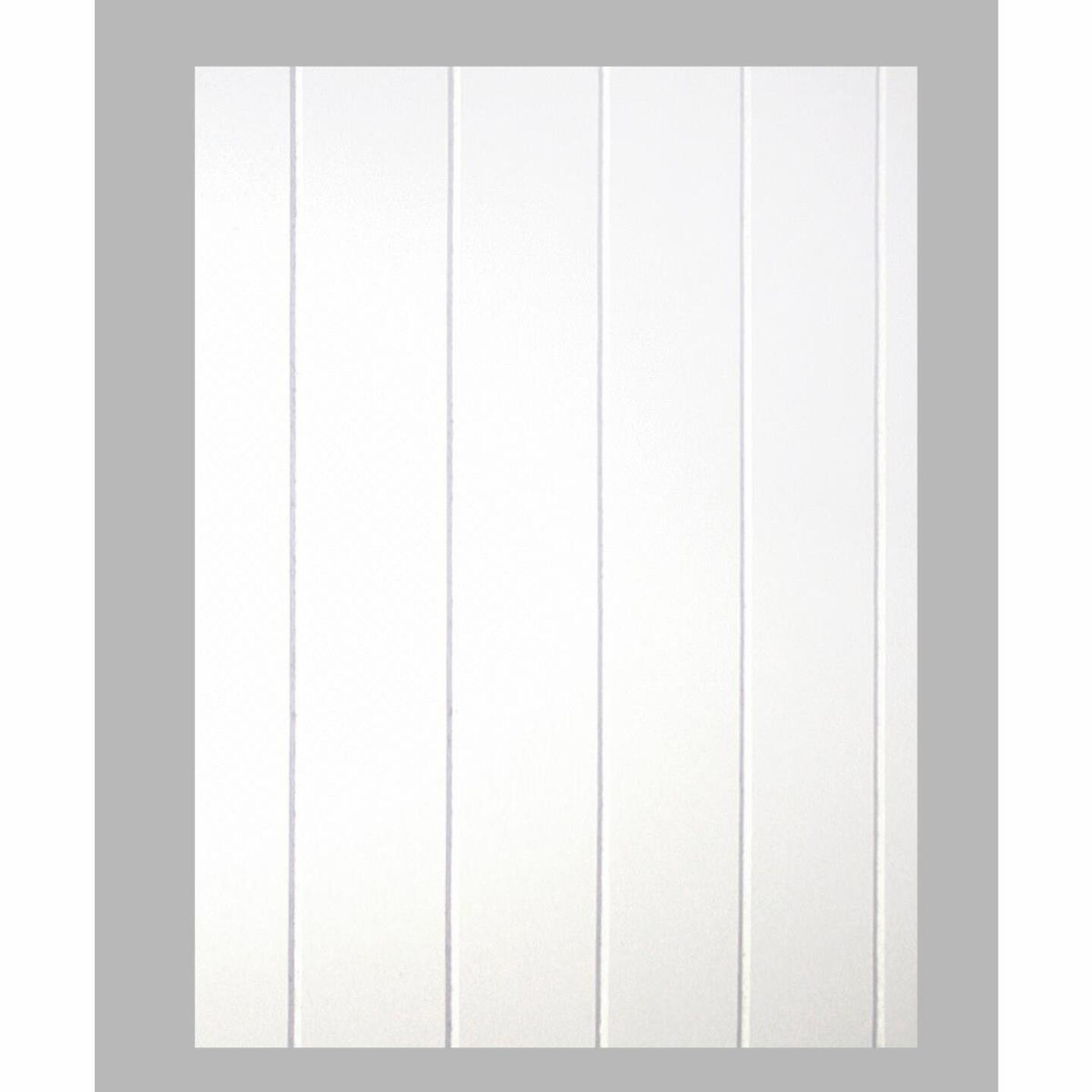 DPI 4 Ft. x 8 Ft. x 3/16 In. White Dover V-Groove Wall Paneling Image 1