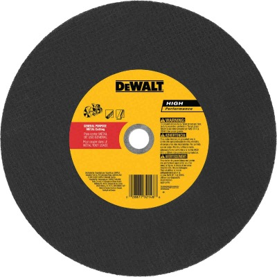 DeWalt HP Type 1 14 In. 1x /8 In. x 20 mm Metal Cut-Off Wheel