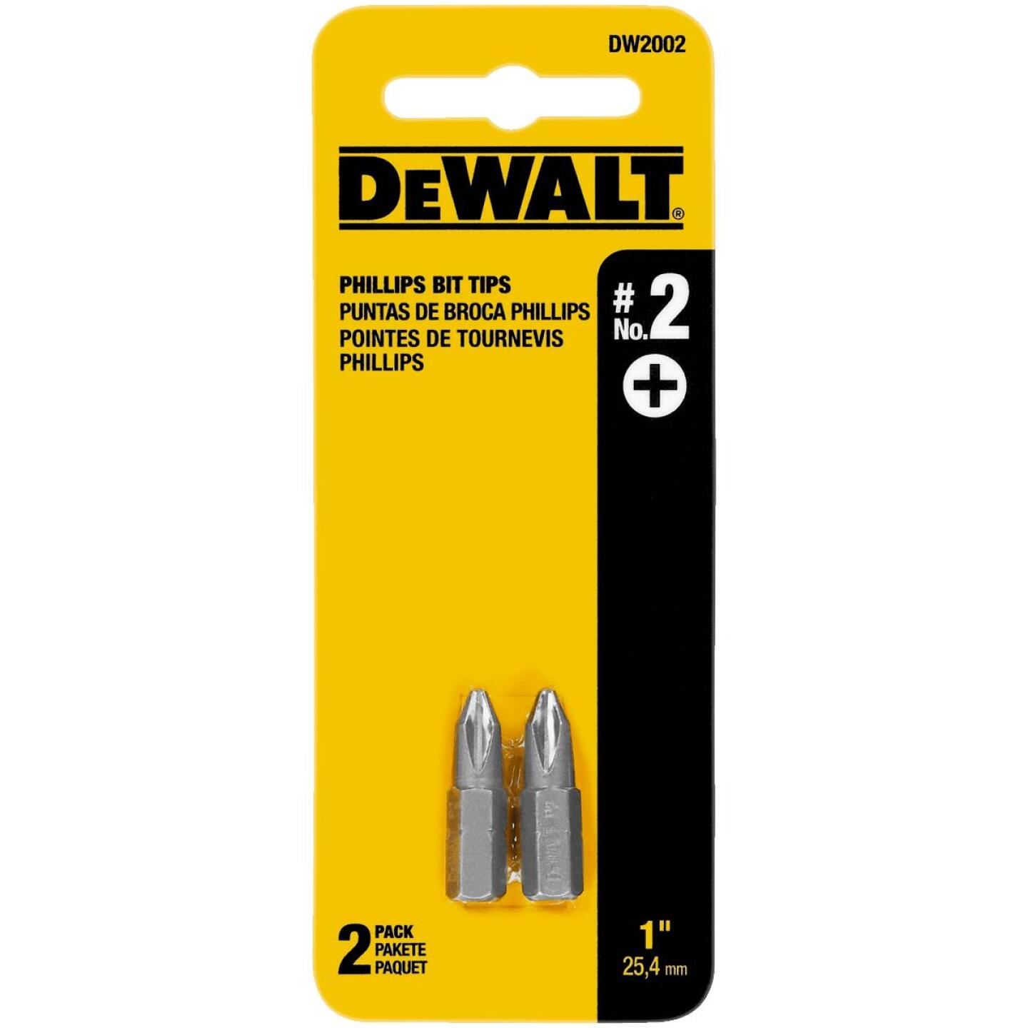 DeWalt Phillips #2 1 In. Insert Screwdriver Bit Image 1