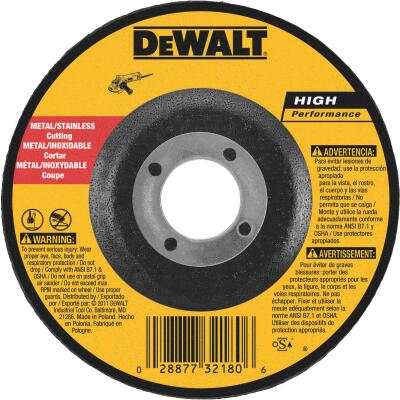 DeWalt HP Type 27 5 In. x 0.045 In. x 7/8 In. Metal/Stainless Cut-Off Wheel
