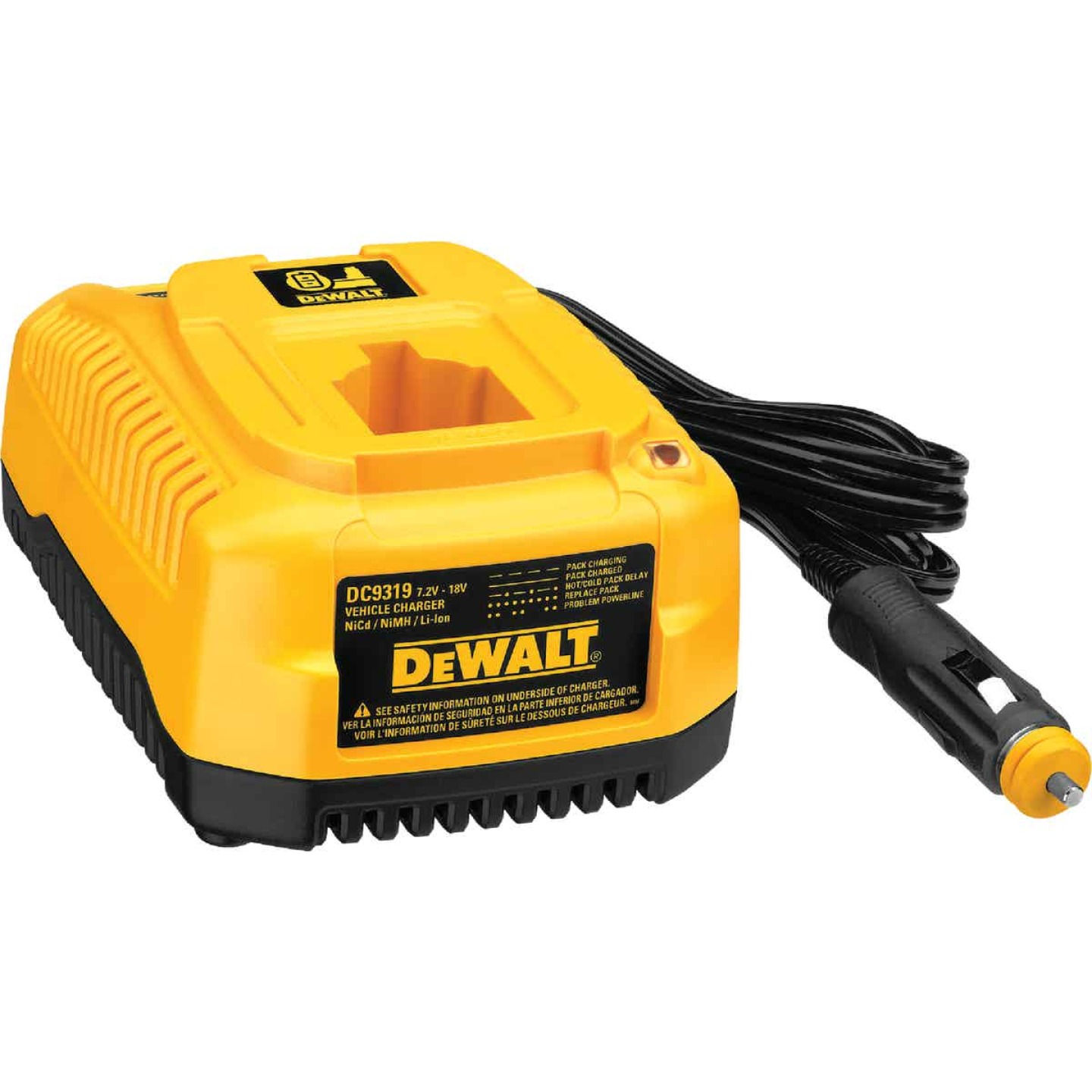DeWalt 7.2-Volt to 18-Volt Nickel-Cadmium/Nickel-Metal Hydride/Lithium-Ion Vehicle Battery Charger Image 1