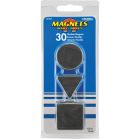 Master Magnetics Black Assorted Magnetic Shapes (30-Pack) Image 2