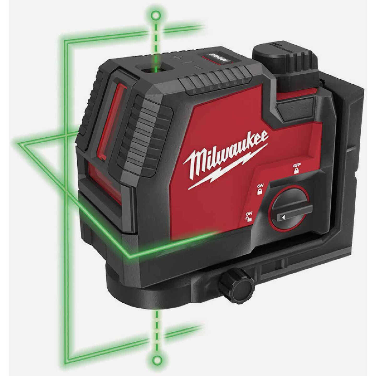 Milwaukee USB Rechargeable Green Cross Line & Plumb Points Laser Image 2