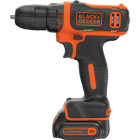 Black & Decker 12 Volt MAX Lithium-Ion 3/8 In. Cordless Drill Kit Image 5