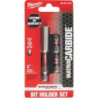 Milwaukee Shockwave Matrix Carbide 3 In. Magnetic Bit Holder with Two Insert Bits Image 1