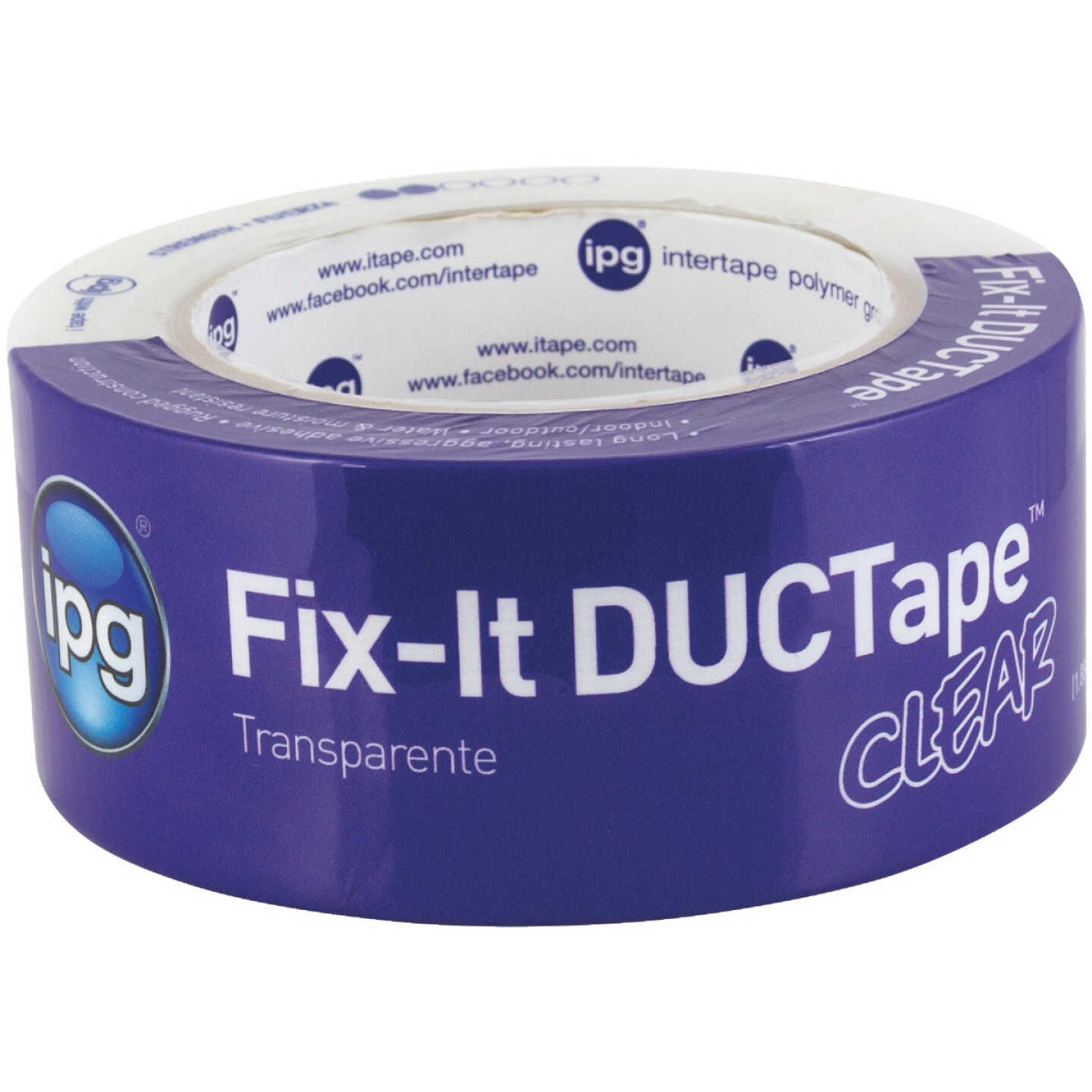 IPG 1.88 In. x 27 Yd. Fix-It Clear DuctTape Image 1