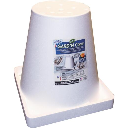 Gardeneer Styrofoam White 18 In. Rose Cone
