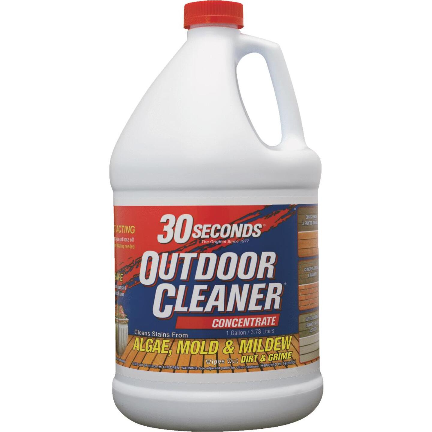 30 seconds Outdoor Cleaner 1 Gal. Concentrate Algae, Mold & Mildew Stain Remover Image 1