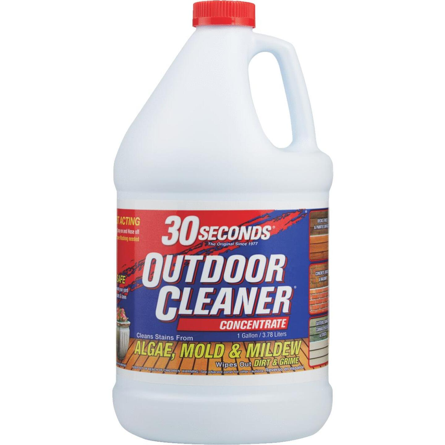 30 seconds Outdoor Cleaner 1 Gal. Concentrate Algae, Mold & Mildew Stain Remover Image 2