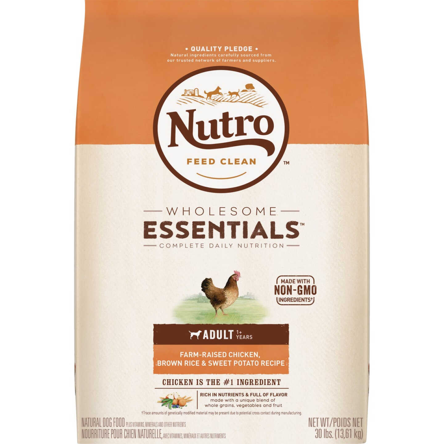Nutro Wholesome Essentials 30 Lb. Chicken, Brown Rice, & Sweet Potato Adult Dry Dog Food Image 1