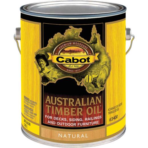 Cabot Australian Timber Oil Translucent Exterior Oil Finish, Natural, 1 Gal.
